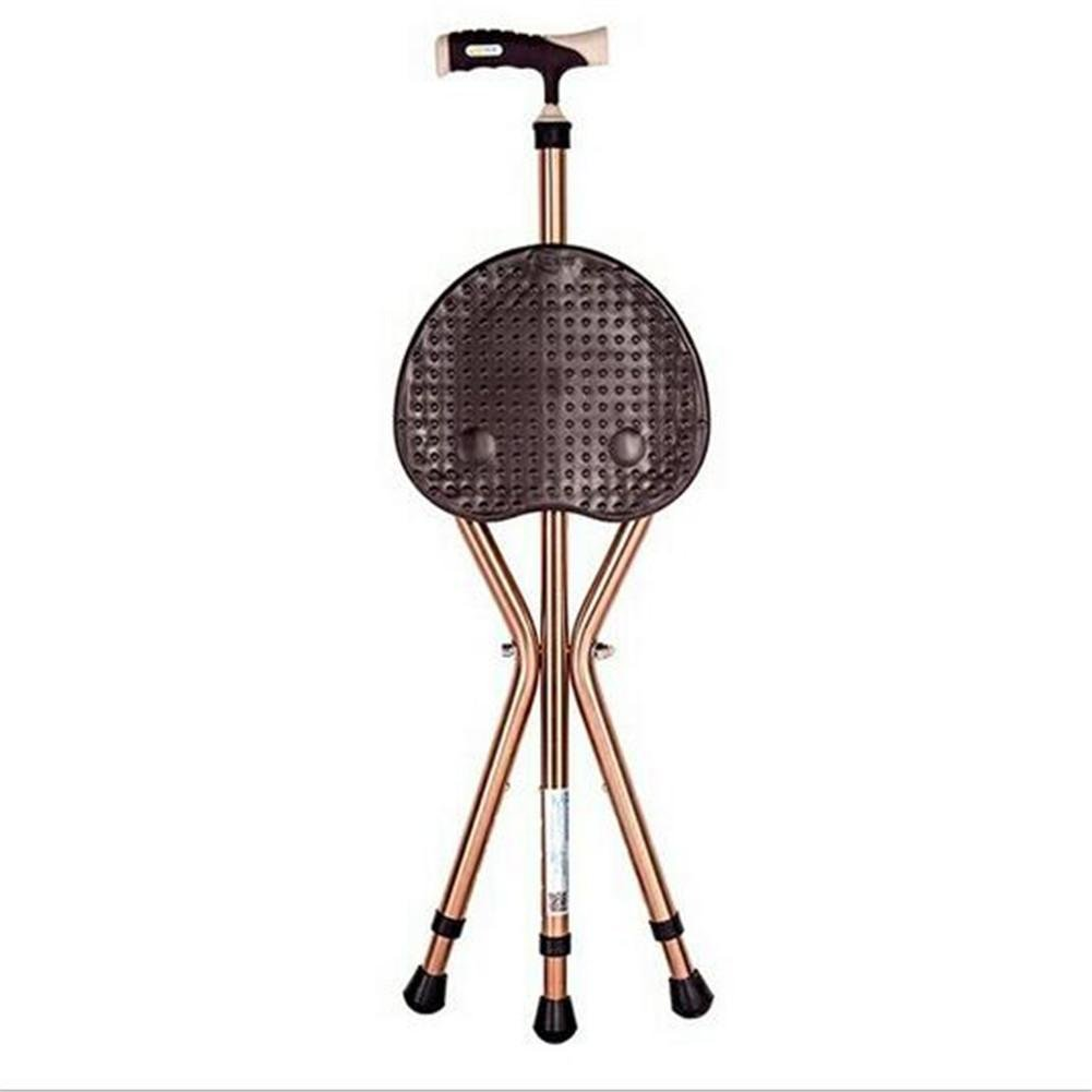 W-ONLY YOU-J Crutches Stools Elderly Thickened Crutches Elderly Tripod Stools Cradles Stools Folding Healthcare