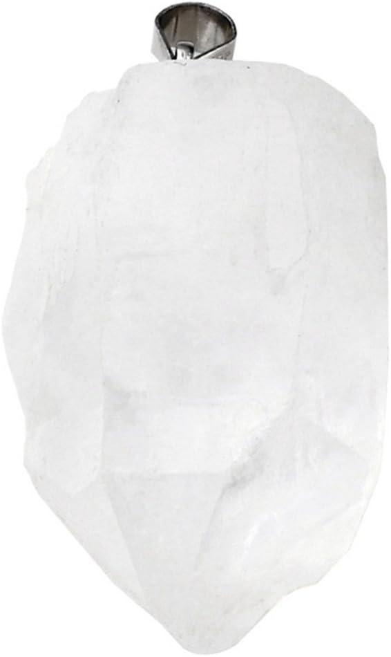Collana con ciondolo irregolare realizzato a mano con pietre naturali grezze quarzo rosa//ametista//roccia di quarzo//cristallo curativo di citrino Citrino. Jovivi