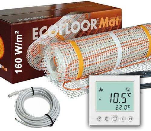 400 Watt PREMIUM Fu/ßbodenheizung elektrisch Fliese Bad Heizmatte Thermostat 2,5 m/²