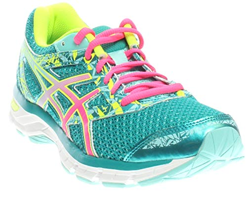 ASICS Women's Gel-Excite 4 Running Shoe, Lapis/Hot Pink/Safety Yellow, 7 M US