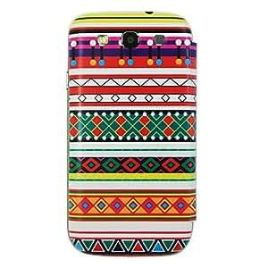 Tartan Design Battery Cover Leather Sheath for Samsung Galaxy S3 I9300