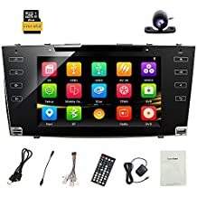 8 Inch Car Radio Full Touch Screen Double Din Car Receiver Stereo GPS Navigation Head Unit CD DVD for Toyota Camry 2006 2007 2008 2009 2010 2011 with Bluetooth Mirror Link Free Map Backup Camera