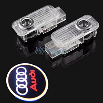 Parts Direct A 4 Rings Ghost Light Easy Fit Door Light Car Logo