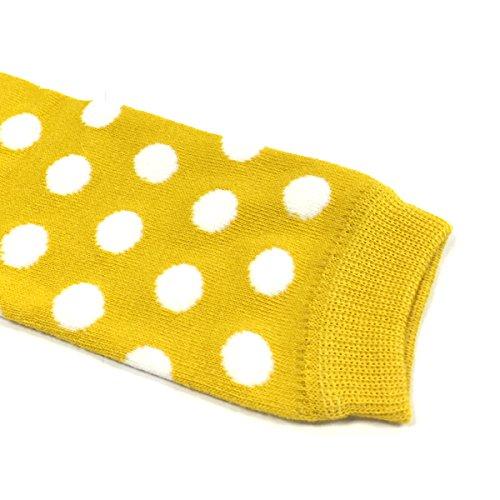 bowbear baby polka dot and solid color leg warmers yellow