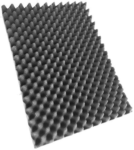 Noppenschaumstoff, Akkustik Schaumstoff, Akkustikschaumstoff, Dämmung (500 mm x 350 mm x 50 mm) (groß, 1x Noppenschaum (500mm x 350mm x 50mm))