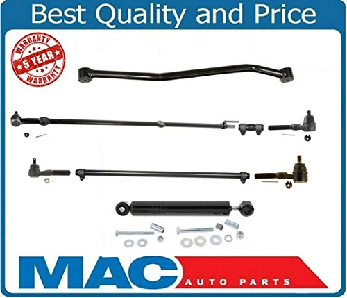 Mac Auto Parts 38455 Drag Link Tie Rod RodsTrack Bar DS1422 8Pc Kit Fits 1991-1995 Jeep Wrangler