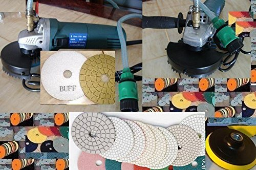 Variable Speed Wet Polisher Polishing 15 Pad Granite Concrete Marble Stone damo