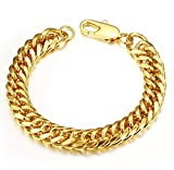 Heavy Metal Cuban Curb Link Chain Men's Bracelets Powerful Stainless Steel Bracelet