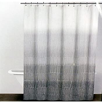 DKNY Twine Graphite Grey Fabric Shower Curtain