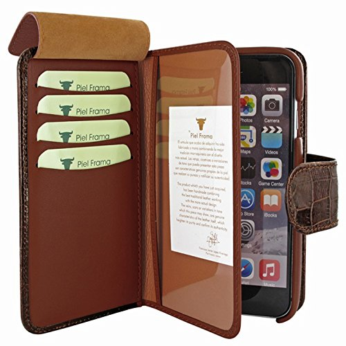 Piel Frama Wallet Case for Apple iPhone 6 Plus - Crocodile Brown by Piel Frama (Image #3)