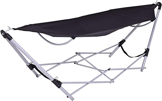 Costway Portable Folding Hammock Lounge Camping Bed W Carry Bag
