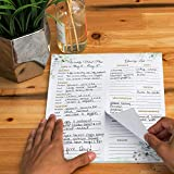 Magnetic Weekly Meal Planning Pad with detachable