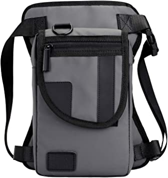 Genda 2Archer Nylon Outdoor Sport Tactical Drop Leg Bag Waist Pack Black