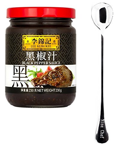 Lee Kum Kee Sauce (Black Pepper Sauce, 1 Bottle) + One NineChef Spoon
