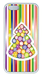 Christmas Tree Colorful TPU Case Cover for iPhone 5 and iPhone 5s ¡§C White