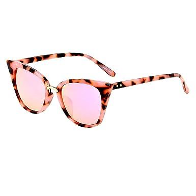 HCFKJ Moda Vintage Ojo De Gato Gafas De Sol Retro Gafas ...