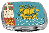 Rikki Knight Compact Mirror on Distressed Wood Design, Saint Pierre and Miquelon Flag, 3 Ounce