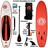 JLF NEW! 11 ft Inflatable Stand Up Paddle Board (SUP) Includes EVERYTHING You Need: Fiberglass Paddle, Carry Strap, Dual Action Pump, Leash, Backpack
