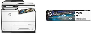 HP PageWide Pro 577dw Color Multifunction Business Printer with Wireless & Duplex Printing (D3Q21A) with Standard Yield Black Ink Cartridge