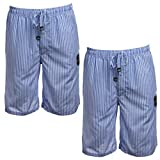 Ecko Unltd. (2 Pack Cool Cotton Pajama Shorts for Men Sleep Shorts Loungewear Sleepwear Home Travel