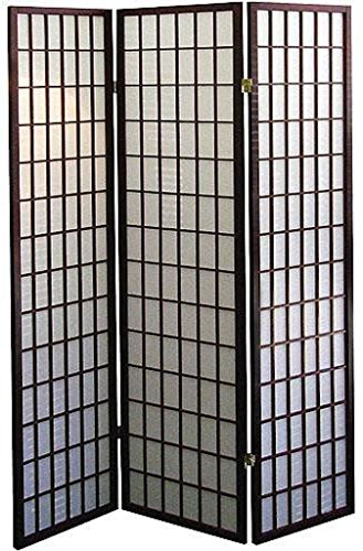 - Legacy Decor 3 Panel Japanese Oriental Style Room Screen Divider Espresso Color