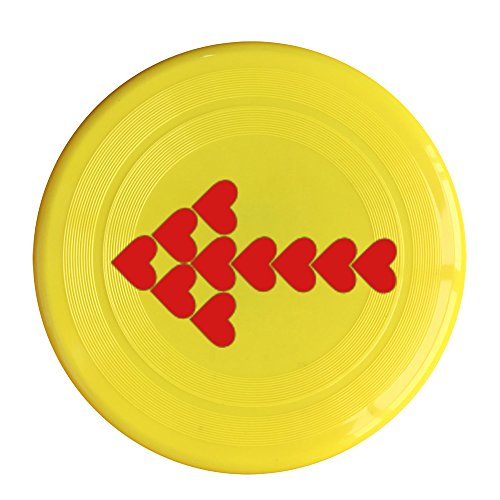 (Kim Lennon Hearts Arrow Custom Sport Plastic Sport Disc Colors And Styles Vary Yellow Size One Size)