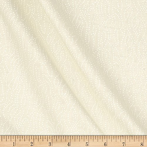 Santee Print Works Tone Dotted Lines White/Tan Fabric by The Yard Cotton 100% Fabric Line