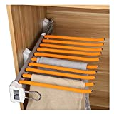 Closet Swing Arm Pants Hanger Bar Clothes Organizers for Space Saving and Storage,18'' x 13-1/2''