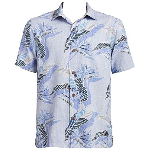 Tommy Bahama South Pacific Paradise Camp Shirt (Light Sky, XX-Large) (Paradise Camp Shirt)