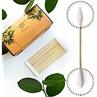 Premium 6 inch Long Bamboo Cotton Swabs   Compostable Dog Ear Sticks   Buds for Gun Cleaning Kit   Zero Waste Disposable…