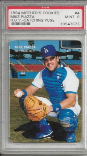 (Mike Piazza 1994 Mothers Cookies Card #4 PSA 9)