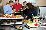 Swissmar KF-77081 8-Person Stelvio Raclette Party Grill with Granite Stone by Swissmar