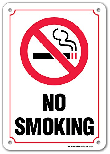 Smoking Safety Sign Protected Weatherproof