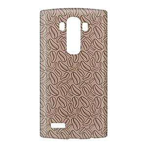 Loud Universe LG G4 Coffee Beans Print 3D Wrap Around Case - Brown