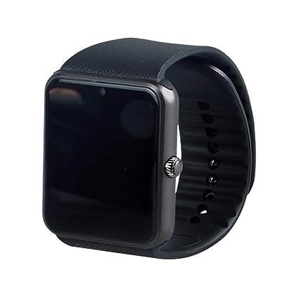 WATTP Reloj inteligente para Hombre Gt08 reloj de sincronización notificador de apoyo tarjeta SIM Bluetooth conectividad