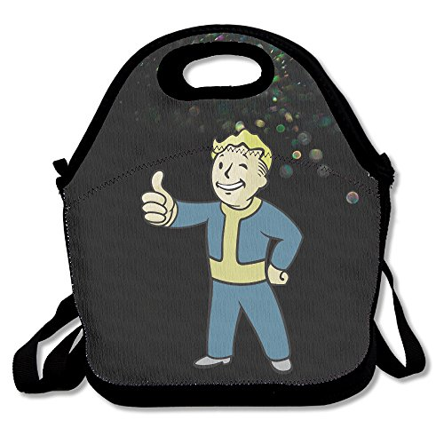 Bakeiy Vault Boy Lunch Tote Bag Lunch Box Neoprene Tote For Kids And Adults For Travel And Picnic School
