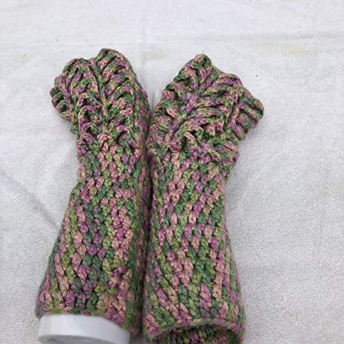 (Variegated Rose Garden Front Only 3x12 Inch Dragon Scales Fingerless Gloves)