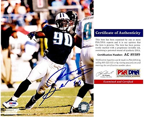 Signed Jevon Kearse Photograph - 8x10 inch Certificate of Authenticity COA) - PSA/DNA Certified - Autographed NFL Photos (Kearse Photograph)
