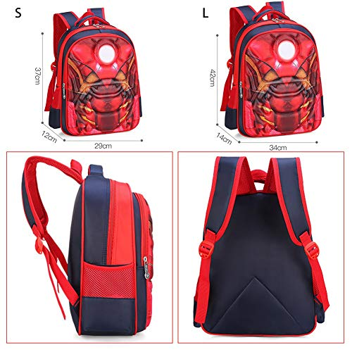 fc2322c76184 Purple GO2 Kids School Bag Spiderman Backpack Captain America Batman for  Boys Children School Backpack with 3D Anime Super Hero Design(Captain ...