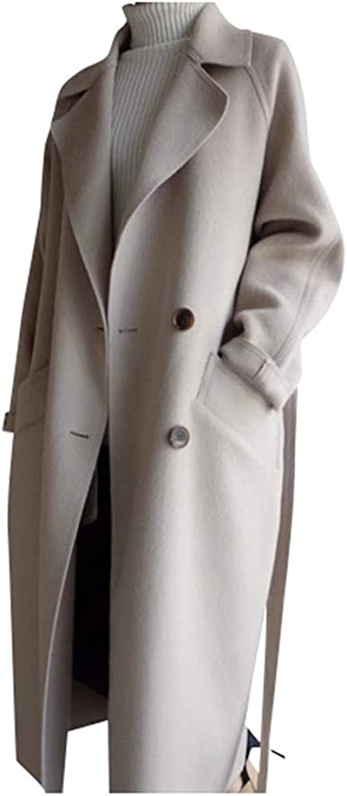 manteau laine femme oversize long