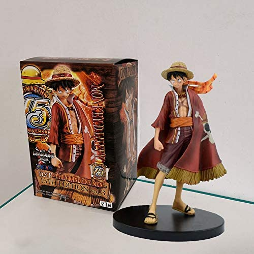 Idle Decormay One Piece Series Anime Ornament Garage Kits Simulation Collection Toys Gift for Friends Children (Luffy Style 1)