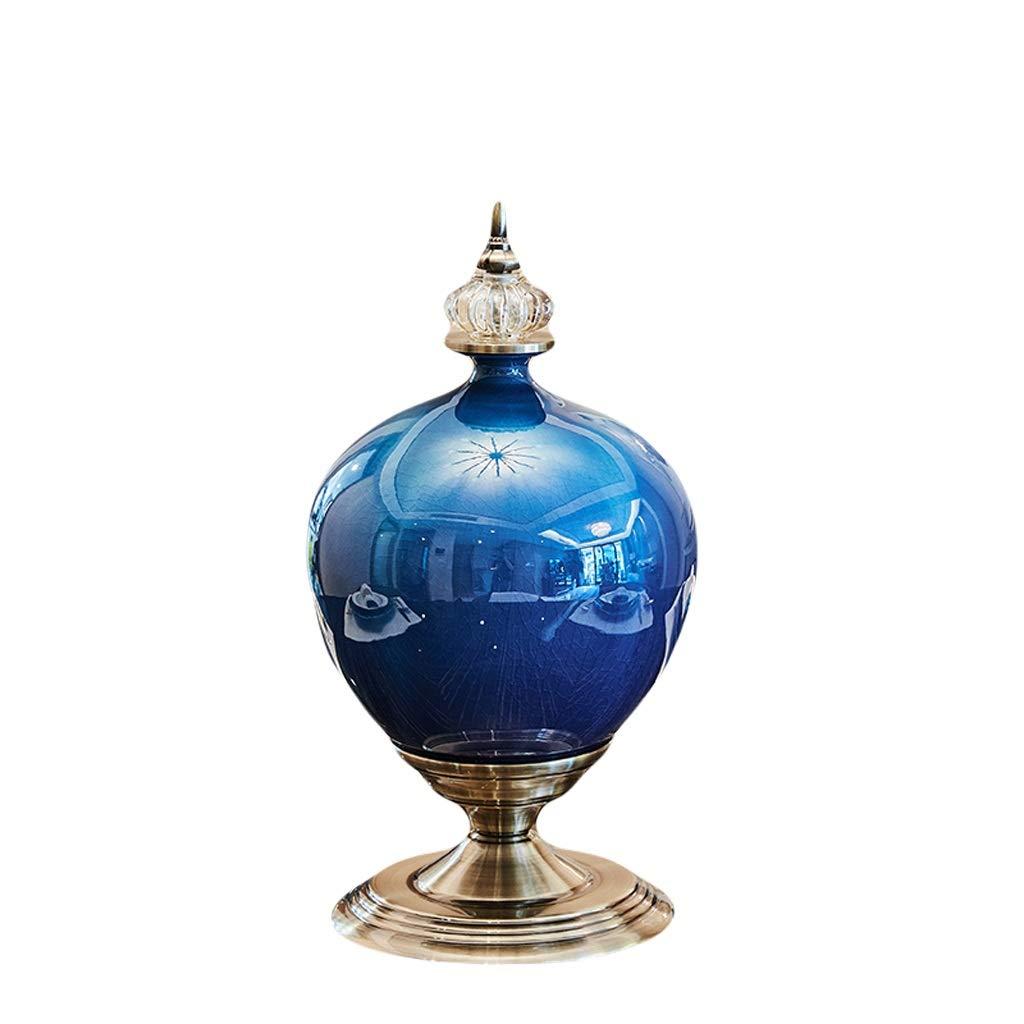 MAHONGQING 花瓶ヨーロッパ高級セラミックアイスクラック花瓶装飾リビングルームフラワーアレンジメントアメリカのテレビキャビネットダイニングテーブルヴィラ柔らかい装飾 (Size : M) B07S3J1QW8  Medium