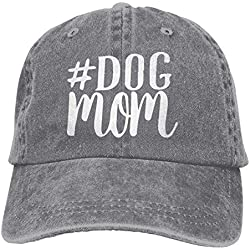 Dog Mom-1 Vintage Plain Baseball Cap Hat Gray
