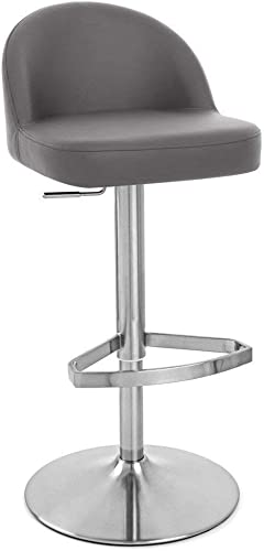 Zuri Furniture Slate Mimi Adjustable Height Swivel Armless Bar Stool