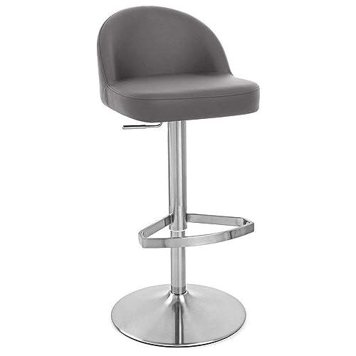 Zuri Furniture Slate Mimi Adjustable Height Swivel Armless Bar Stool