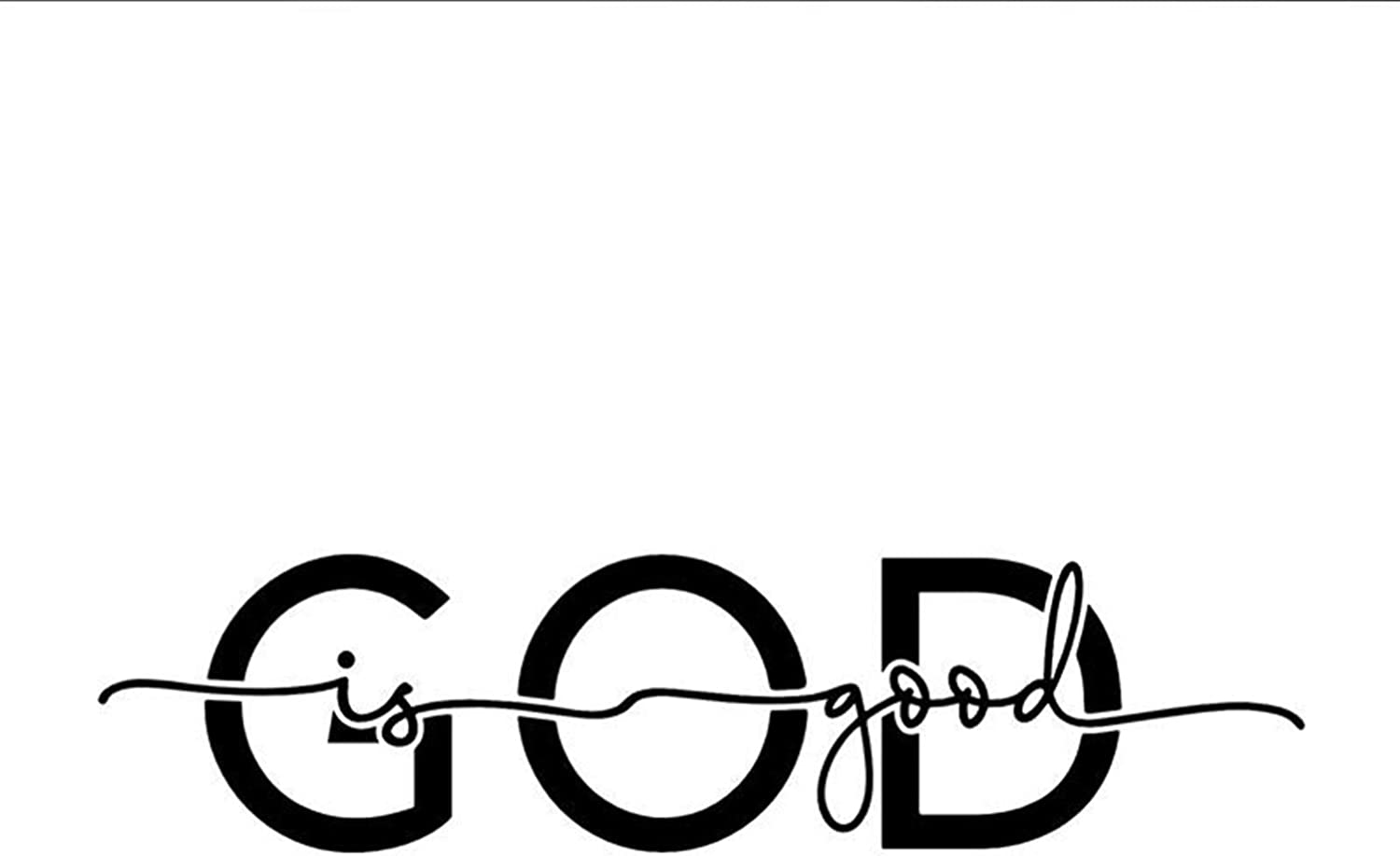 God is Good Religious Christian White Vinyl Window Decal Sticker for Cars or Laptops, 5 1/2 Inch