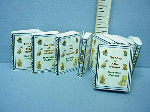 Dollhouse Miniature Beatrix Potter 10 Book Set - #173 A Novel Idea 1/12th Scale