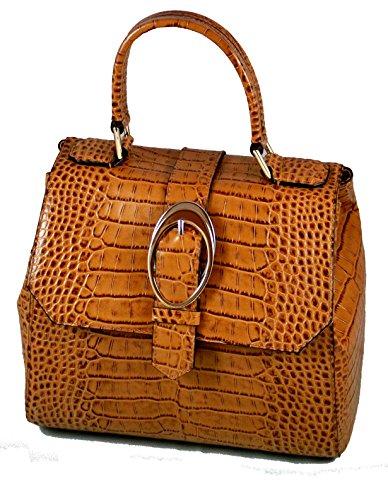 Armani Collezioni Leder Handtasche Light Brown