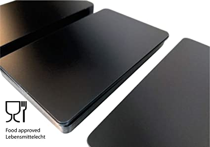 Tarjetas de plástico premium de PVC, color negro mate, finas ...