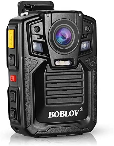 Body Worn Camera with Audio, BOBLOV 1296P Police Body Cameras for Law Enforcement, Security Guard, Waterproof Body Mounted Cam DVR Video IR with Night Vision, 170 Wide Angle Built in 128GB